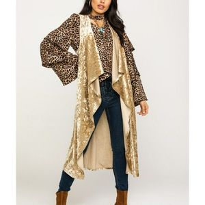 """*NWT* """"ROCK AND ROLL COWGIRL"""" DUSTER - GOLD"""